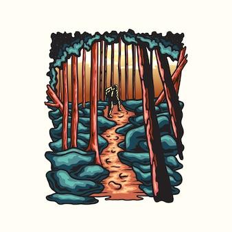 Ilustração de alpinismo