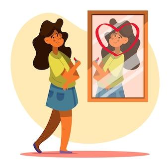 Ilustração de alta autoestima