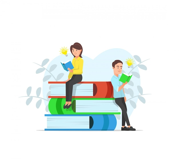 Ilustração de amantes de livro