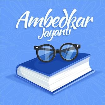 Ilustração de ambedkar jayanti desenhada à mão
