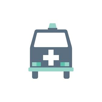 Ilustração, de, ambulância