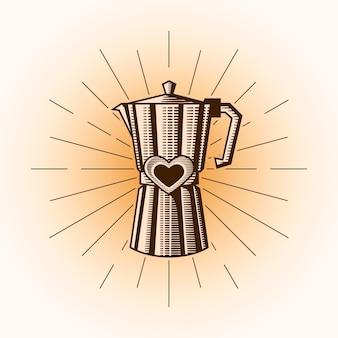 Ilustração de amor café