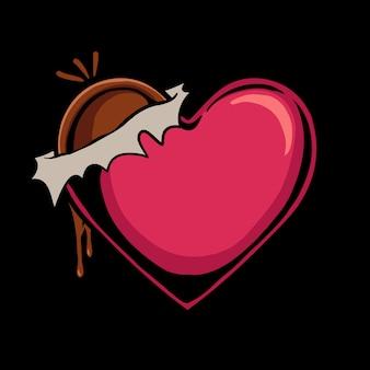 Ilustração de amor de chocolate