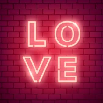 Ilustração de amor de néon