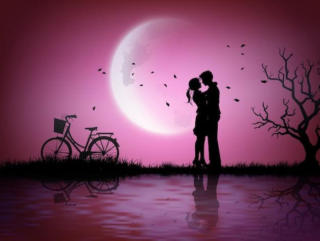 Ilustração de amor e dia dos namorados.