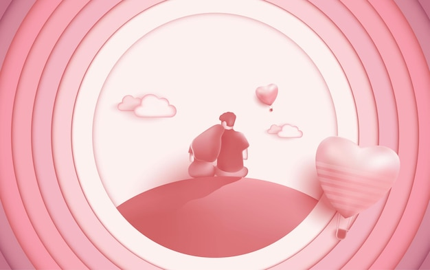 Ilustração de amor. ilustração de casal apaixonado