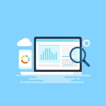 Ilustração de análise de dados do site