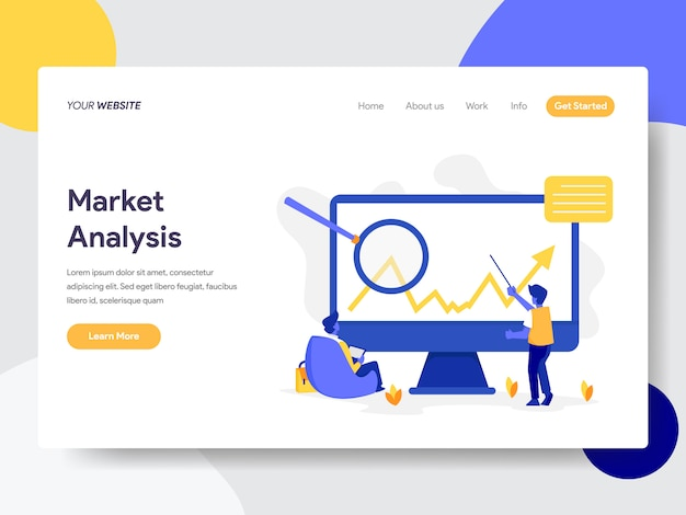 Ilustração de análise de mercado