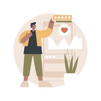 Ilustração de análise de mídia social