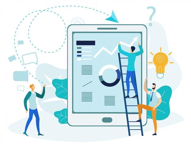 Ilustração de análise de negócios modernos