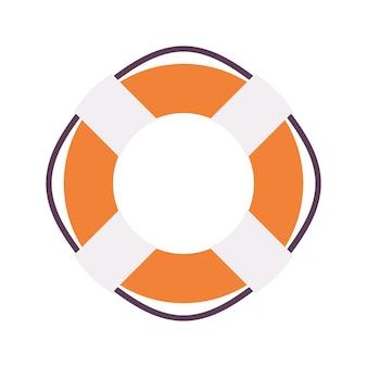 Ilustração de anel de bóia salva-vidas