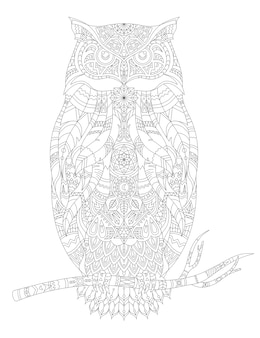 Ilustração de animal adulto para colorir