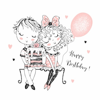 Ilustração de aniversário