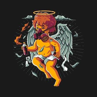 Ilustração de anjo cupido