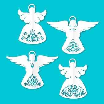 Ilustração de anjo de natal de design plano