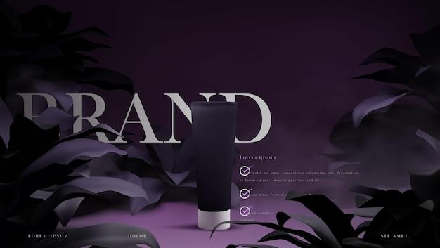 Ilustração de anúncios de cosméticos de luxo