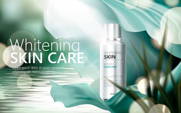Ilustração de anúncios de cuidados com a pele refrescante