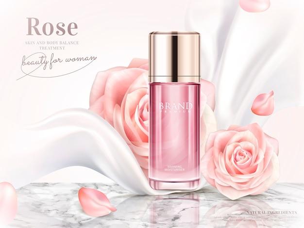 Ilustração de anúncios de toner rosa