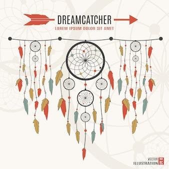 Ilustração de apanhador de sonhos