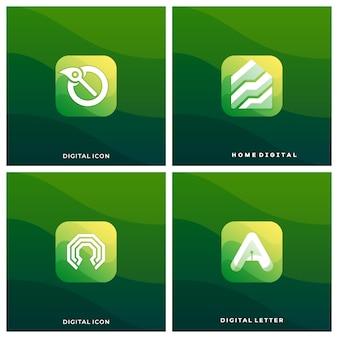 Ilustração de aplicativo de ícone de mídia digital