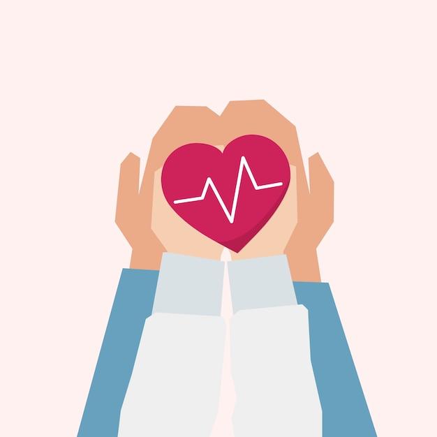 Ilustração, de, apoio saúde, conceito