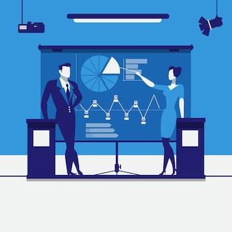 Ilustração de apresentação de negócios