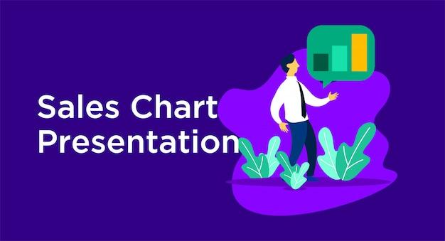 Ilustração de apresentação de vendas