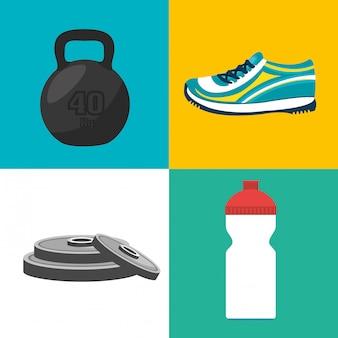 Ilustração de aptidão de esportes
