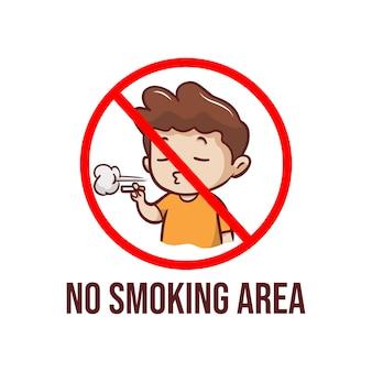 Ilustração de área de não fumantes