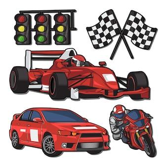 Ilustração de arena de corrida
