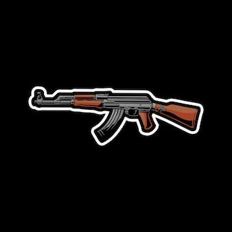 Ilustração de arma ak-47