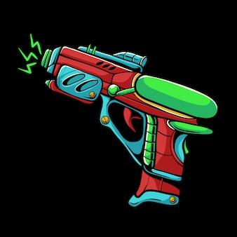 Ilustração de arma de raio