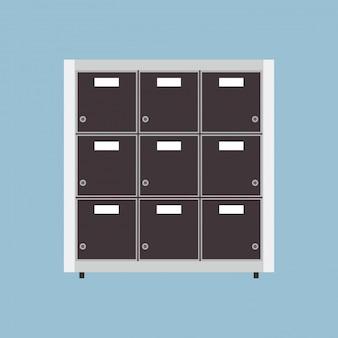 Ilustração de armazenamento de arquivo morto