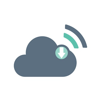 Ilustração, de, armazenamento nuvem
