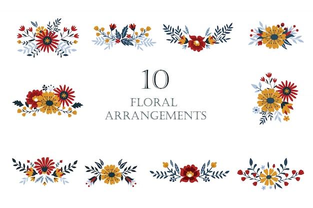 Ilustração de arranjo floral-buquê