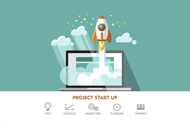 Ilustração de arranque de projeto