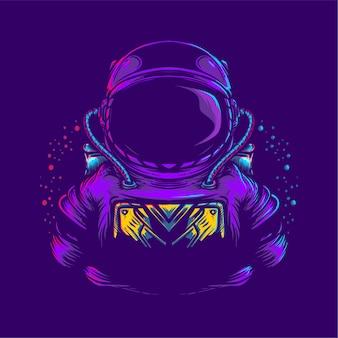 Ilustração de arte de astronauta