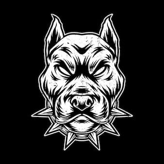 Ilustração de arte de pitbull