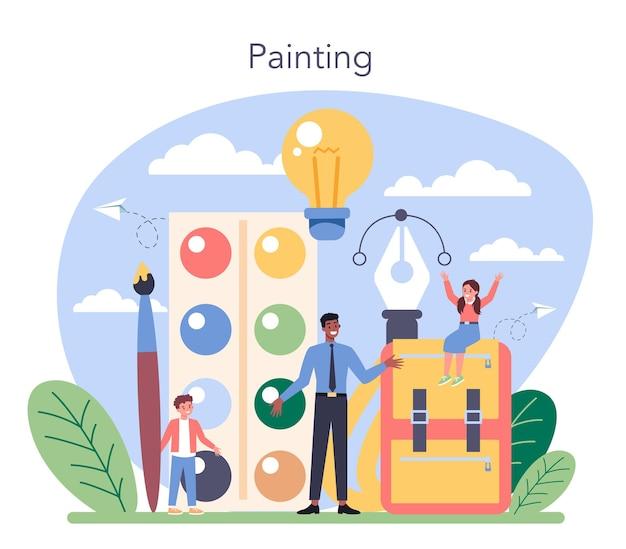 Ilustração de arte educação escolar