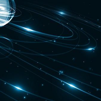 Ilustração de arte espacial futurista abstrata