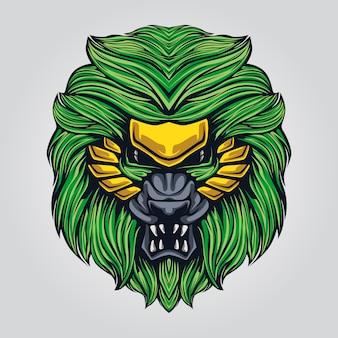 Ilustração de arte-final do leão