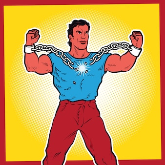 Ilustração de arte pop liberdade.