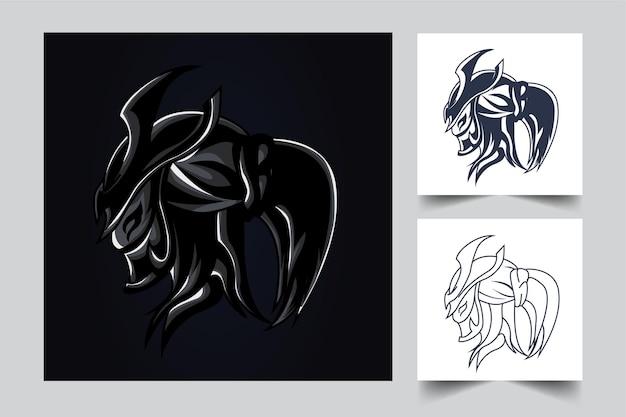 Ilustração de arte ronin esport