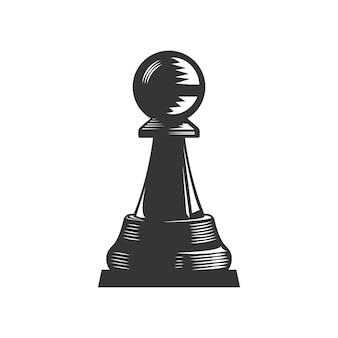 Ilustração de arte vetorial linha de xadrez.