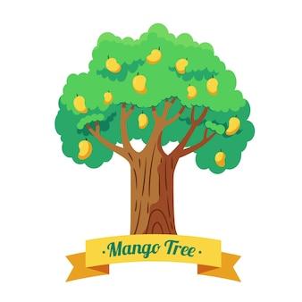 Ilustração de árvore de manga