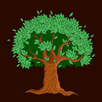 Ilustração de árvore desenhada à mão