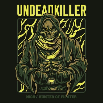 Ilustração de assassino de mortos-vivos