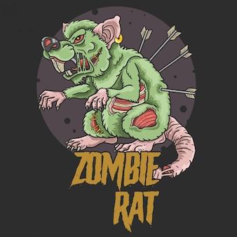 Ilustração de assassino de rato zumbi