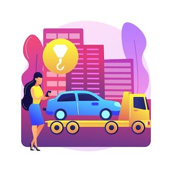 Ilustração de assistência rodoviária