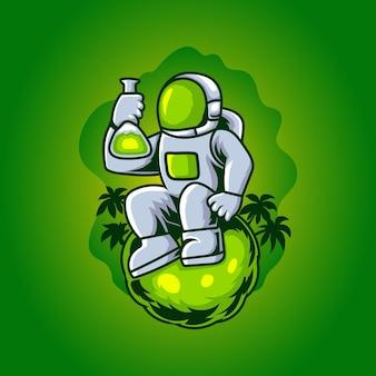 Ilustração de astrolábio verde